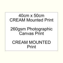 40cm x 50cm mounted CREAM 260gsm canvas custom print
